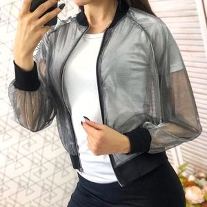 Organza see through bomber size xs